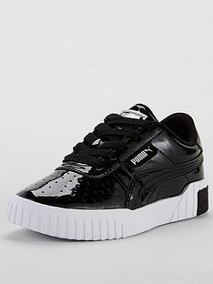 puma-cali-patent-childrens-trainers-black