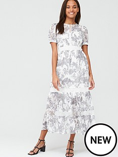 v-by-very-lace-trim-toile-layered-midaxi-dress-mono-print