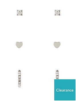 v-by-very-heart-amp-pave-stud-3-pack-silver