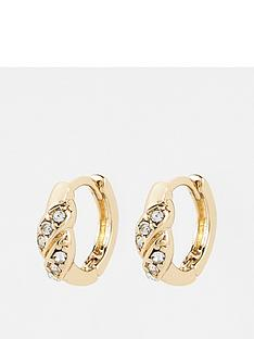 v-by-very-rhinestone-huggie-earrings-gold