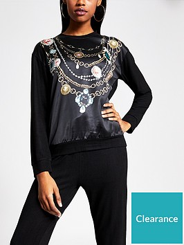 river-island-river-island-jewel-print-lounge-sweatshirt-black