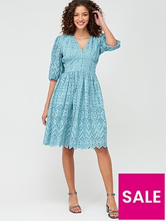 v-by-very-broderie-button-through-midi-dress-blue