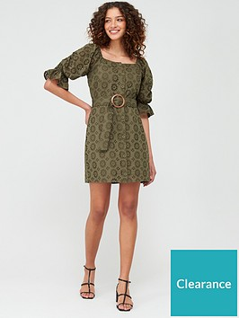 v-by-very-broderie-button-through-pencil-dress-olive