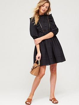 v-by-very-embroidered-ruffle-smock-dress-blacknbsp