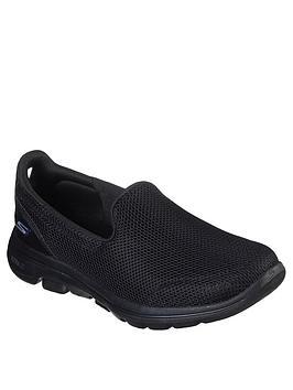skechers-go-walk-5-wide-fit-athletic-air-meshnbspslip-on-pump-black