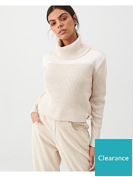 river-island-river-island-waffle-knit-crop-jumper-cream