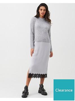 river-island-river-island-satin-midi-knit-jumper-dress-grey
