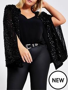 ri-plus-embellished-cape-jacket-black