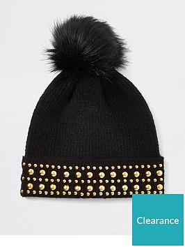 river-island-stud-beanie-hat-black