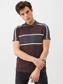very-man-sport-panel-polo-shirt-burgundy
