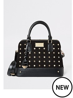 river-island-river-island-studded-medium-kettle-bag-black