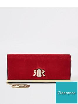 river-island-river-island-suedette-baguette-clutch-bag-red
