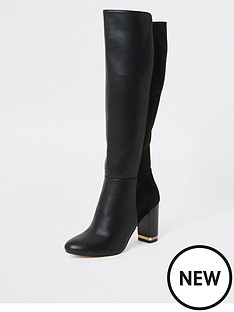 river-island-river-island-knee-high-heeled-boots-black