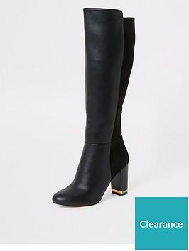 river-island-river-island-knee-high-heeled-boots-black
