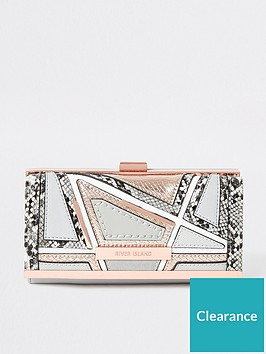 river-island-river-island-snake-mix-cliptop-purse-grey