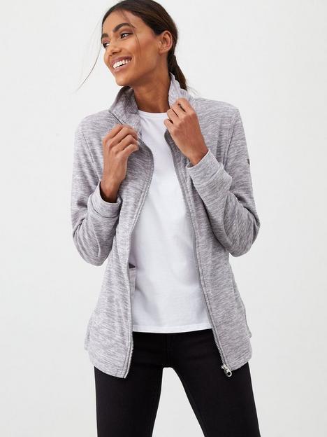 regatta-evanna-full-zip-marl-hoodie-grey