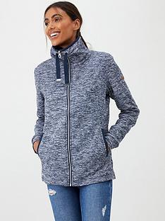 regatta-evanna-full-zip-marl-hoodie-navy