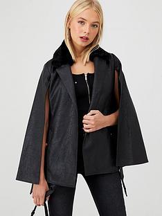 river-island-river-island-faux-leather-cape-jacket-black