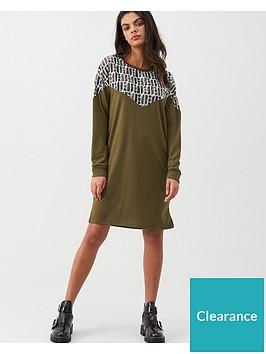 river-island-river-island-monogram-sweatshirt-dress-khaki
