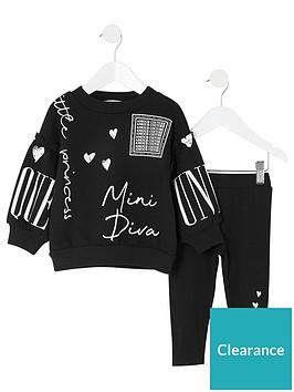river-island-mini-girls-mini-diva-sweat-set-black