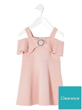 river-island-mini-girls-bardot-skater-dress-pink