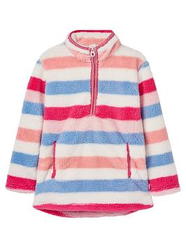 joules-girls-ellie-half-zip-fleece-pink