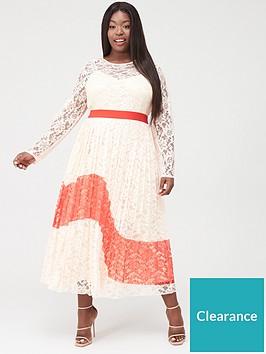 little-mistress-curve-lace-pleated-midaxi-dress-multi