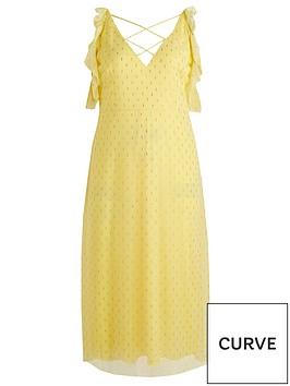 little-mistress-curve-cold-shoulder-lurex-midaxi-dress-lemonnbsp