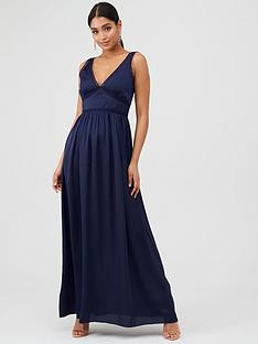 little-mistress-v-neck-maxi-satin-dress-navy
