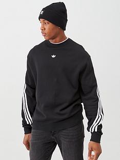 adidas-originals-3-stripe-wrap-crew-neck-sweat-black