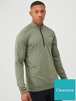adidas-terrex-trace-rock-12-zip-long-sleeve-top-green