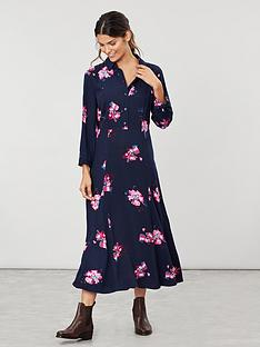 joules-carla-long-sleeve-button-front-shirt-dress-navy