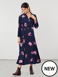 joules-carla-long-sleeve-button-front-shirt-dress-navy