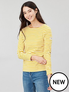 joules-harbour-gold-stripe-top-gold