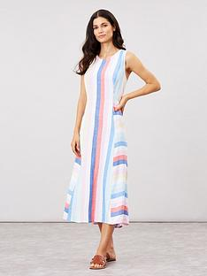 joules-chrissie-multi-tripe-linen-mix-dress-multi
