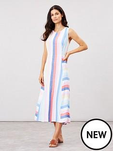 joules-chrissie-multi-tripe-linen-mix-dress-multi