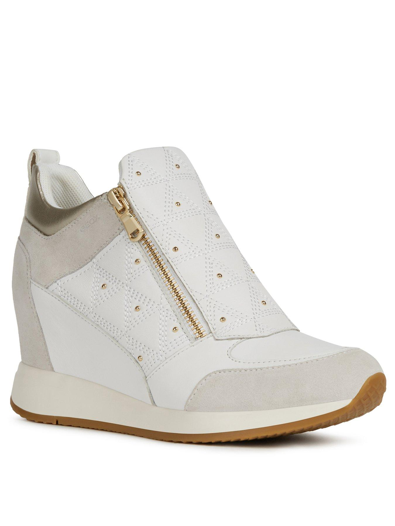 Residencia Conexión maestría  Women's Shoes Geox D Carum C Womens Nappa Leather Wedge Fashion Shoes  Sneaker-Boots All White Clothing, Shoes & Accessories lio.mx