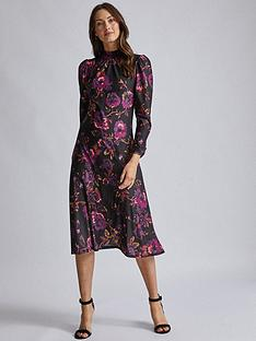 dorothy-perkins-purple-high-neck-midi-dress-purple