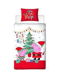 peppa-pig-christmas-single-duvet-cover-set