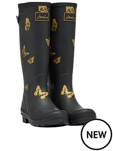 joules-joules-printed-welly-with-adjustable-gusset