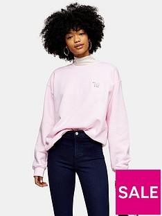 topshop-topshop-polar-bear-emoji-sweatshirt-pink