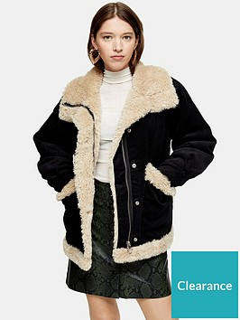 topshop-topshop-borg-lined-jacket-black