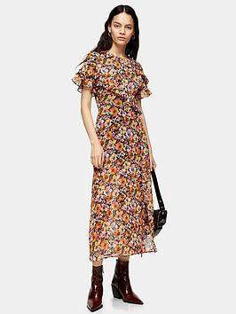 topshop-floral-ruffle-shirt-dress-multi