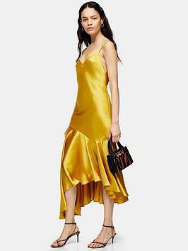 topshop-bias-midi-slip-dress-yellow