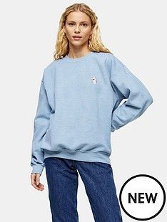 topshop-topshop-koala-emoji-sweatshirt-blue