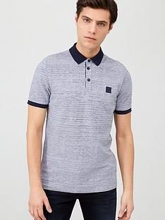 prod1089264253: Pself Contrast Collar Polo Shirt - Navy