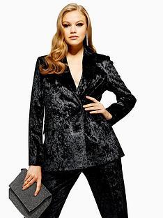 topshop-topshop-bonded-velvet-jacket-black