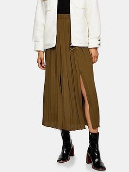 topshop-topshop-satin-pleat-midi-skirt-khaki