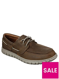 skechers-leather-slip-on-boat-shoes-brown