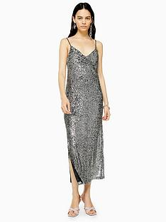 topshop-topshop-sequin-midi-dress-silver